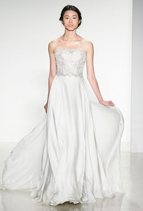 Brides.com: Kelly Faetanini Strapless Wedding Dress from Fall 2014 Collection | Click to see more from this collection!