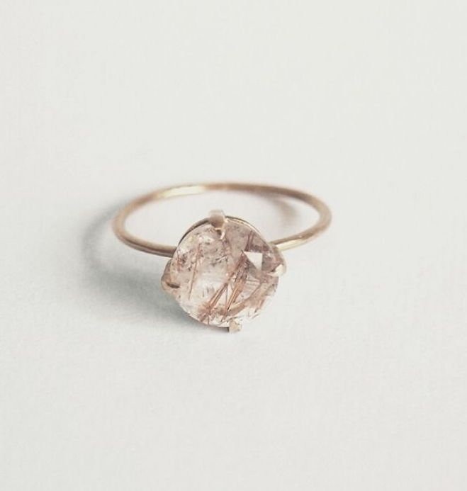 17 Best ideas about Quartz Engagement Ring on Pinterest Crystal