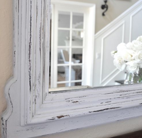 For our bedroom mirror! Perfect, since using chalk paint and wax eliminates sanding, priming, and dry time.