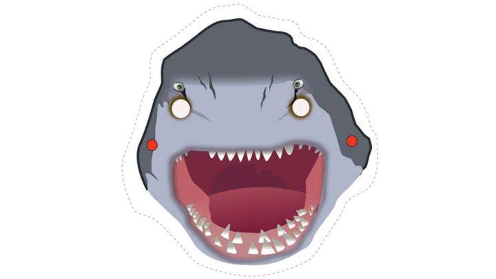 Shark Week:Printable Shark Mask   Camp HollanDaze