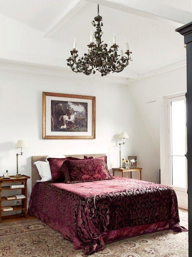 white sets off vintage fabrics & carpet in a Paris aparment