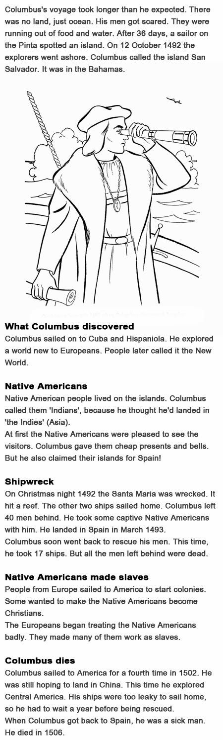 Facts on Christopher Columbus for kids http://firstchildhoodeducation.blogspot.com/2013/10/facts-on-christopher-columbus-for-kids.html