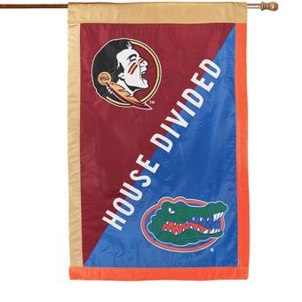 """Florida Gators vs. Florida State Seminoles 28"""" x 44"""" House Divided Double Sided Banner Flag"""