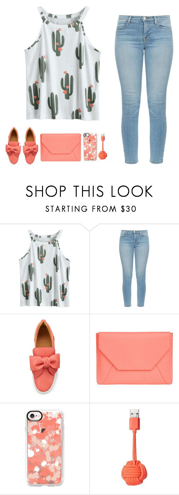 """Cactus Summer Outfit"" by leenalastal ❤ liked on Polyvore featuring J Brand, BUSCEMI, Senreve, Casetify and Native Union"