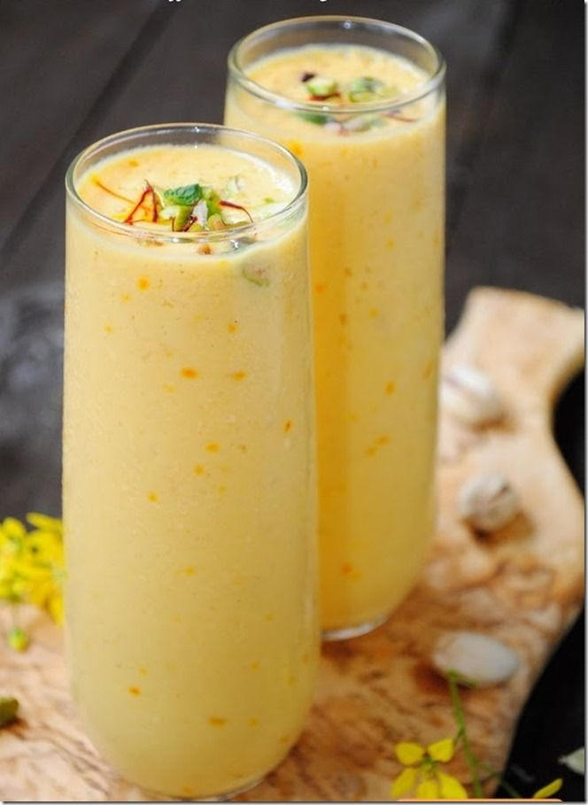 Saffron Mango Lassi Mango Lassi, Style, Fermented Food Drinks, Juices ...