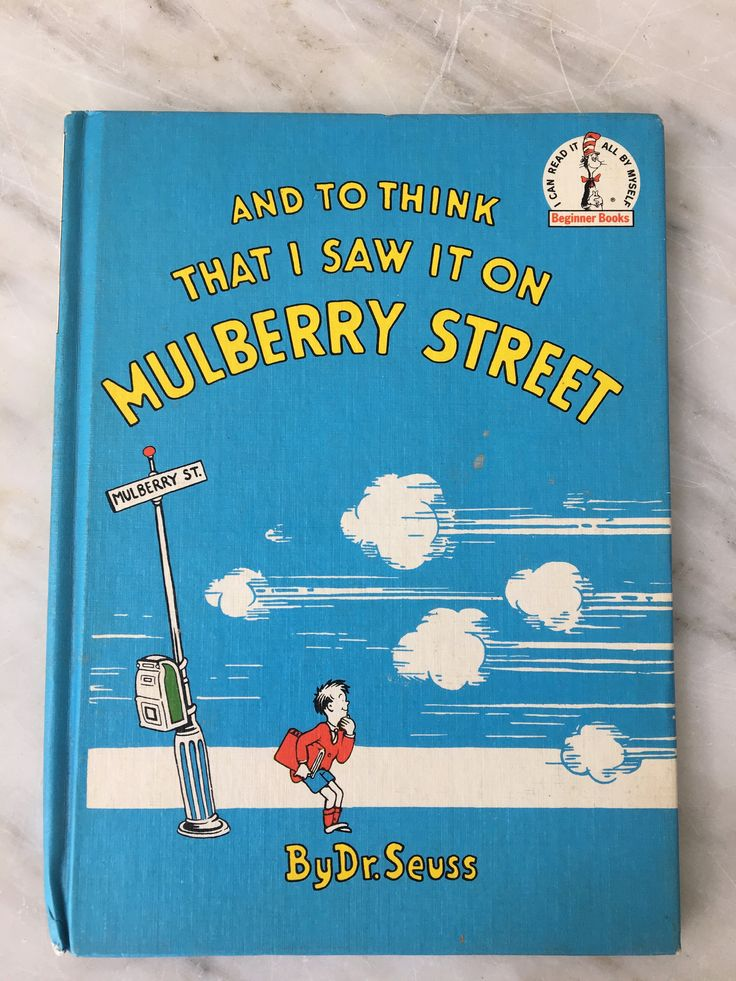 vintage Dr. Seuss book And to Think that I saw it on Mulberry Street, 1937 book club edition, children's hardcover, by MotherMuse on Etsy