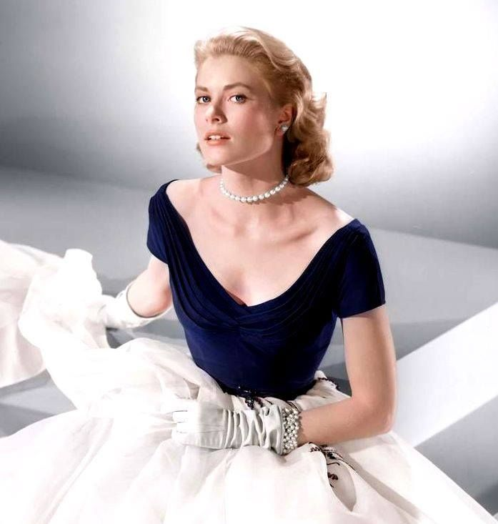 """Grace Kelly in a promotional photo for the movie """"Rear Window"""""""