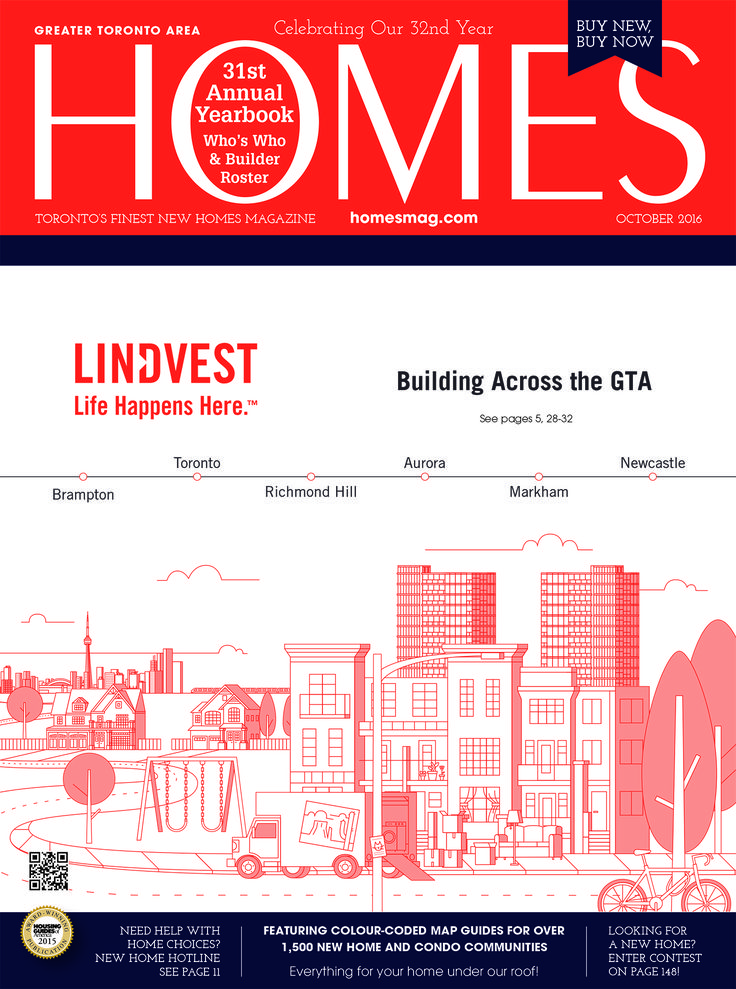 Check out the October issue of HOMES Magazine, featuring our annual yearbook with Who's Who & Builder Roster! Now online for free to read at this link...http://homesmag.com. Cover: Lindvest