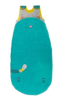 DECOILUZION - Saco de dormir Gatito azul de Moulin Roty