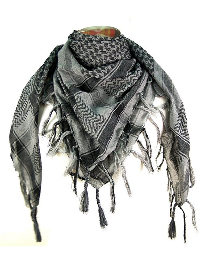 Our Military Tactical Shemagh Scarf is made of 100% cotton, high quality woven material, not printed. Thick and soft material protects your head and neck from sun, sand, wind and dust. Great to use fo
