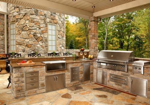78 Entspannende Outdoor-Küchenideen für fröhliches Kochen und Party