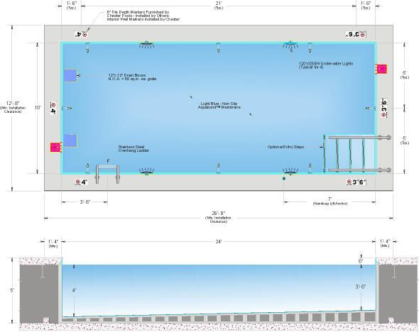Lofted C60 10x24 Elevated Pool Dwg Autocad Pinterest Swimming Swimming Pools And Pools