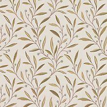 Buy John Lewis Guelder Berry Fabric, Duck Egg Online at johnlewis.com