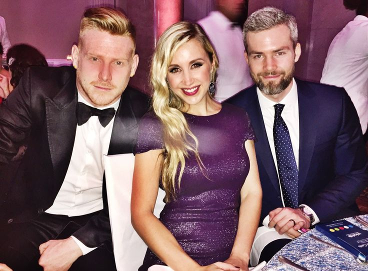 UNICEF Snowflake Ball in New York - The Sterling Standard - Sterling McDavid pictured with Lisle Richards and Ryan Serhant