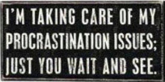 Funny Procrastination Quotes | Im taking care of my procrastination - Funny Pictures, Funny jokes and ...
