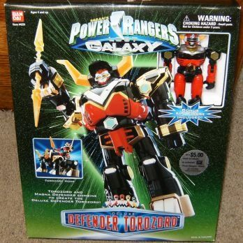 Bandai Power Rangers Lost Galaxy Deluxe Defender Torozord with Bonus Action Figure * Click image for more details.