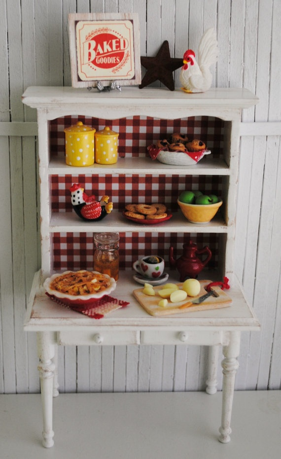 Miniature country kitchen life in miniature for Cute country kitchen ideas