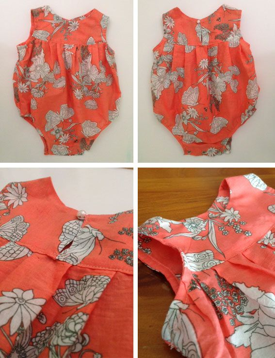 Baby Girl Romper PDF Sewing Pattern and Photo Tutorial by Frianki
