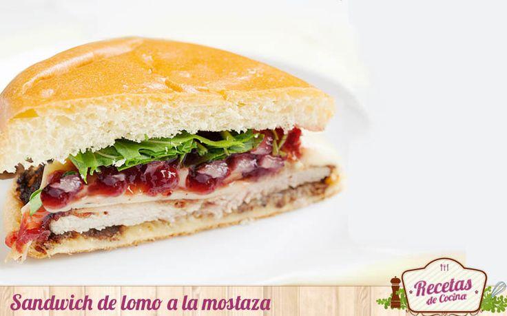 Sándwich de lomo a la mostaza -  Durante el fin de semana solemos preparar en casa alguna pizza, bocadillo o sándwich para cenar.Normalmente es el viernes cuando disfrutamos de una cena mas informal. Hace una semana recurrimos a estesándwich de lomo a la mostaza, una propuesta sencilla, tierna y sabrosa. El sandwichtiene com... - http://www.lasrecetascocina.com/sandwich-de-lomo-a-la-mostaza/