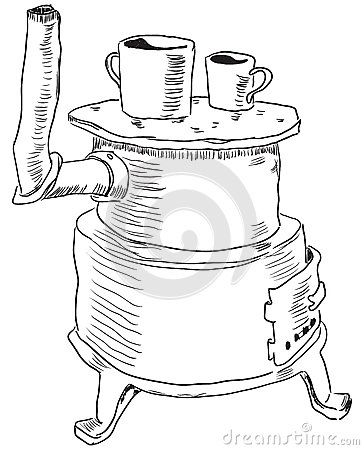 Old Time Coloring Pages | Wood Burning Stove Coloring Pages ...