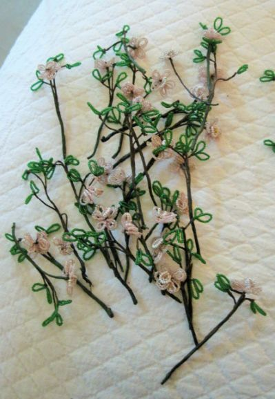 Vintage French Beaded Flowers 40