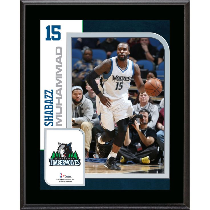 "Shabazz Muhammad Minnesota Timberwolves Fanatics Authentic 10.5"" x 13"" Sublimated Player Plaque - $23.99"
