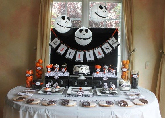 55 best Scary birthday party ideas images on Pinterest Birthday - nightmare before christmas baby shower decorations