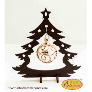 www.artesaniasmarymar.com PINO de madera con esfera mini.