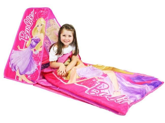 Barbie Slumber Retreat makes a fabulous sleeping bag for girls from Kids Bedding Dreams