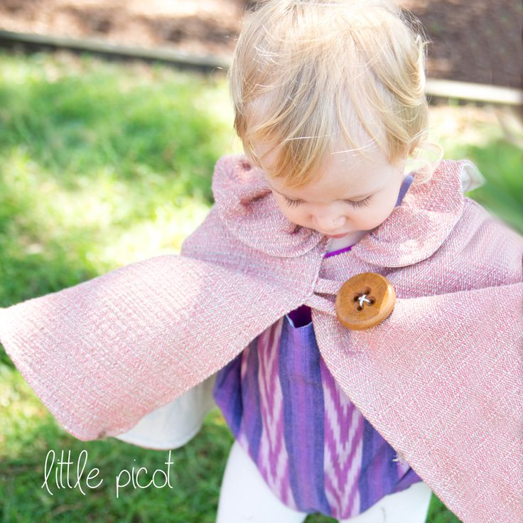 little picot A/W 15 - The Carlo Ponchito! Whimsical Eco-Friendly Clothing for little girls.  Handmade in Australia!