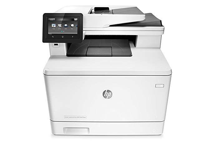 Hp Laserjet Pro M477fdw Multifunction Wireless Color Laser Printer With Duplex Printing Amazon Dash Replenishment Ready Cf379a Laser Printer Printer