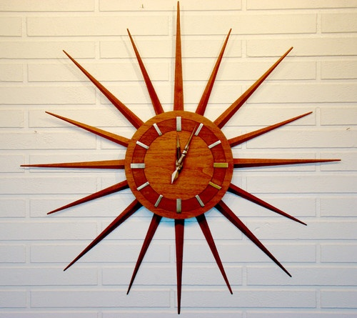 Vintage Atomic Danish Modern Mid Century Starburst Wall Clock Tick Tock In 2018 Pinterest And Midcentury