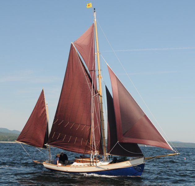 34 Foot Traditional Gaff Rig Yawl Varen Wooden