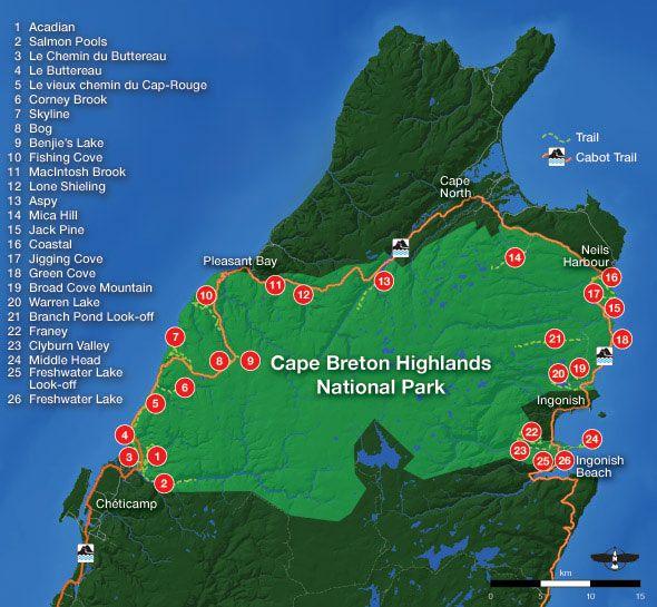 Map: Cape Breton Highlands National Park