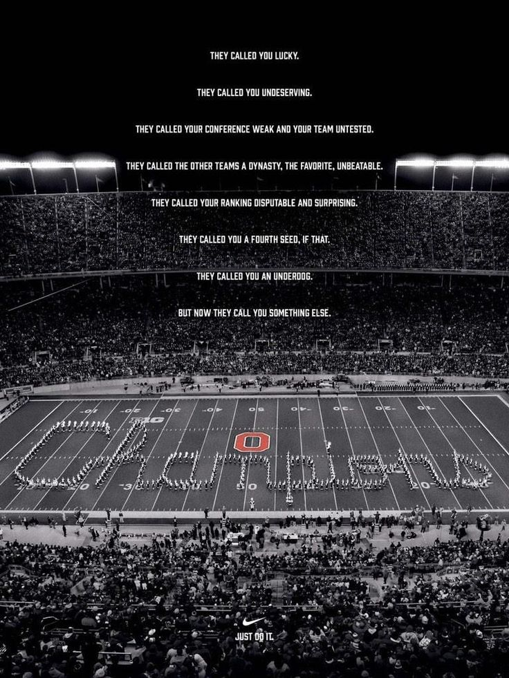 Here is Nike's post-game poster supporting Ohio State's National Championship win.
