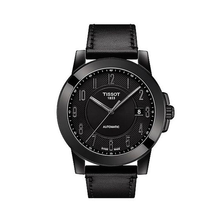 T0984073605200 Ανδρικό Swissmatic ελβετικό αυτόματο ρολόι TISSOT GENTLEMAN με μαύρο λουρί & μαύρο καντράν | Ανδρικά ρολόγια TISSOT ΤΣΑΛΔΑΡΗΣ στο Χαλάνδρι #tissot #swissmatic #automatic #λουρι