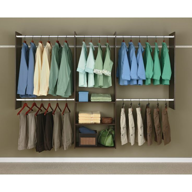 48″ 96″W Deluxe Closet System (With images) Easy track