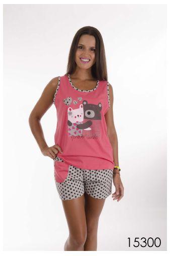 Pijama corto de Verano. Algodón dulce con un diseño divertido