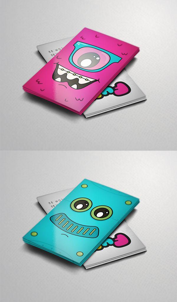 Cartões de Visita para Funtilidades Store, baseado nos mascotes da loja virtual #branding #graphicdesign #illustration #fun