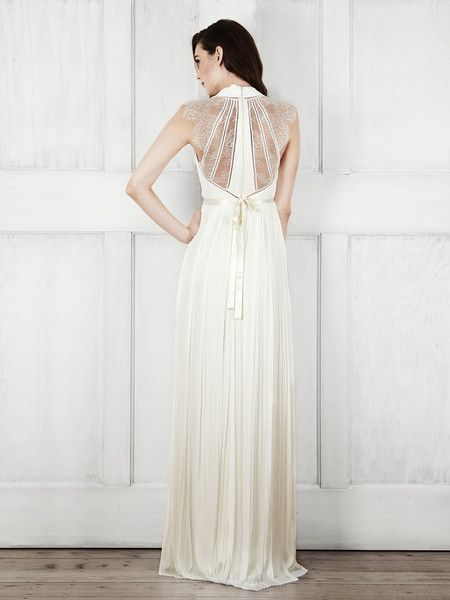 Channel 360° style with the super-statement, delicate lace back and cap sleeves on the Laverne Gown, while the panell...
