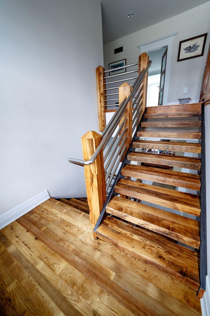 Best Custom Reclaimed Wood Stair Treads By Grothouse Inc 400 x 300