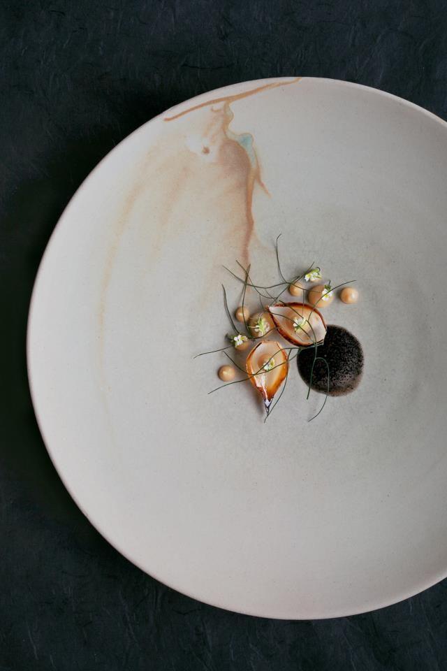 Burned onion with Elderflower, Fennel & Ashes | Maaemo, Oslo