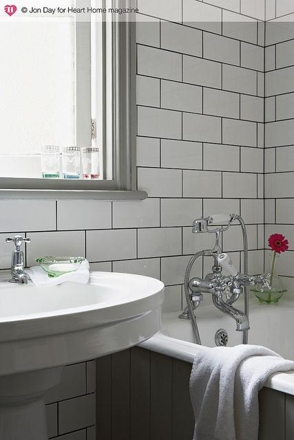 White tiles, Black grouting