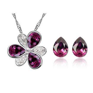 Set bijuterii cu Swarovski Magic Amethyst