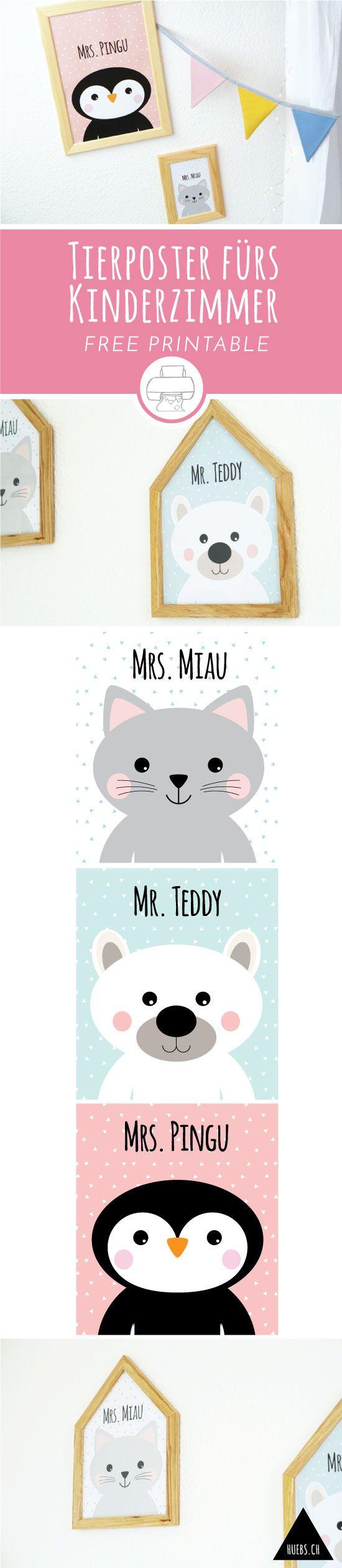 Free Printables - Tierposter für Dein Kinderzimmer