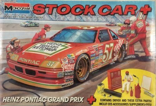 Stock Car Plus Hut Stricklin #57 Heinz Pontiac Grand Prix Model Kit 1/24 Scale