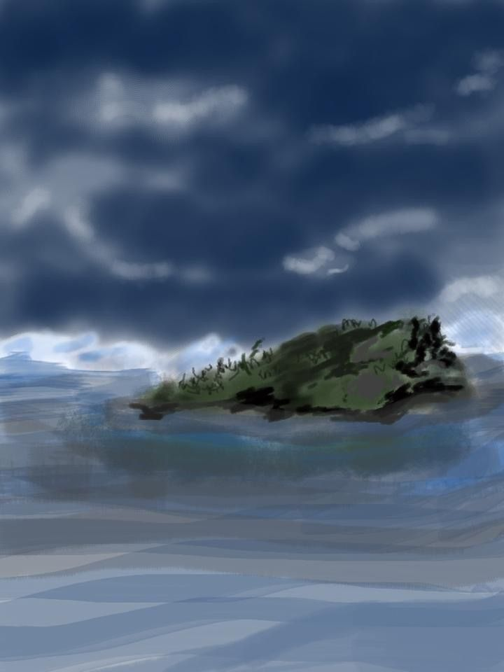 Island in Stream.  Digital .