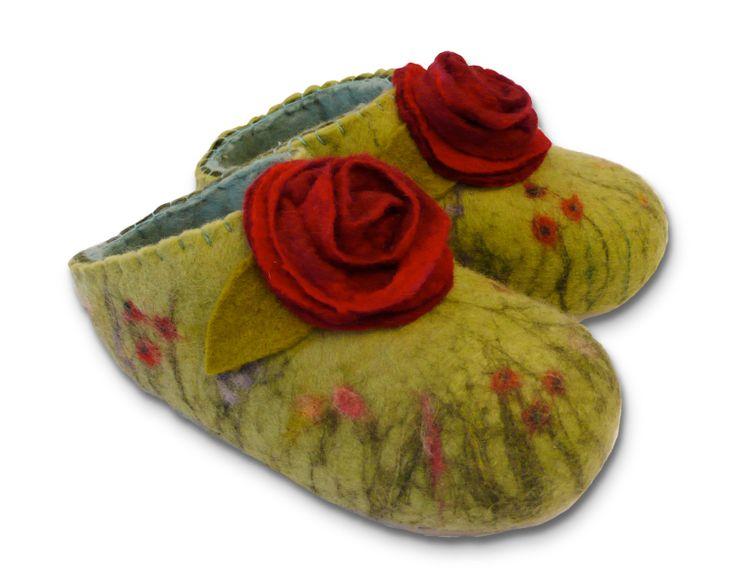 Felt Slippers (copyright Gillian Harris) - I do love these slippers