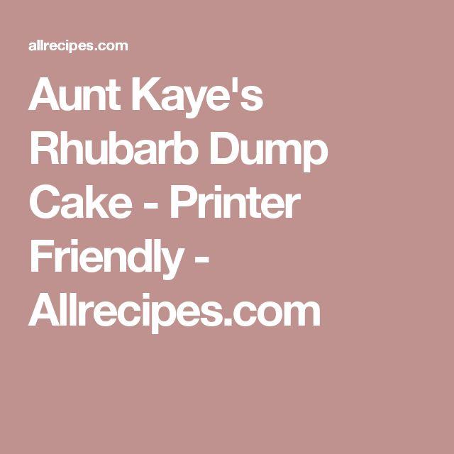 Aunt Kaye's Rhubarb Dump Cake - Printer Friendly - Allrecipes.com
