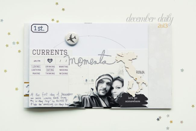 December Daily pages 2o13 by Anna-Maria Wolniak